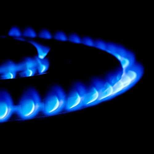 Heating blue flame